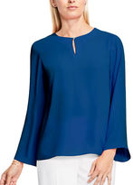 Vince Camuto Petite Solid Bell Sleeve Blouse