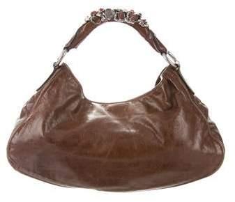 33cae3462 Miu Miu Leather Hobo Bags - ShopStyle