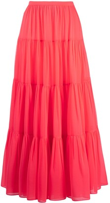Valentino Long Tiered Skirt