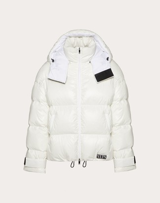 Valentino Duvet Couture Down Jacket With Hood Man White 100% Poliammide M