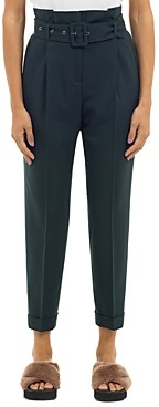 Peserico Pleat Front Belted Trousers