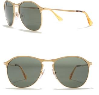 Persol Polarized 56mm Aviator Sunglasses