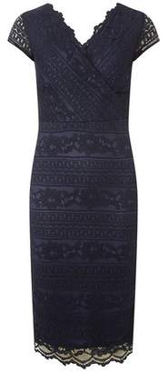 Dorothy Perkins Womens Scarlett B Navy 'Frank' Lace Bodycon Dress