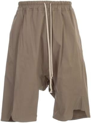 Rick Owens Pants Drop Crotch Elastic Waist Maxi Cotton