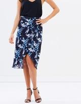 Oasis Tropical Botanical Midi Skirt