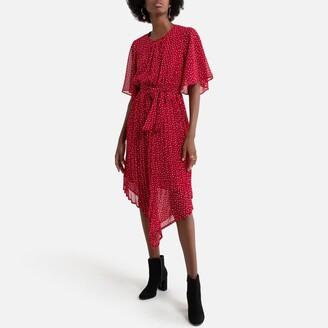 Pepe Jeans Asymmetric Mini Dress in Heart Print