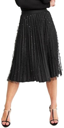 Belle & Bloom Mixed Feelings Black Reversible Skirt Black