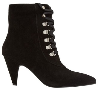 Oxford Rochelle Suede Lace Up Boot
