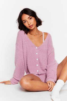 Nasty Gal Womens What a Pearl Wants Knit Shorts Lounge Set - Purple - S, Purple