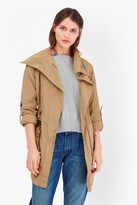 French Connection Drape Front Collar Coat