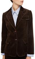 Gerard Darel Veste Cotton Cord Jacket, Brown