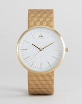 Asos Watch With Gold Embossed Strap