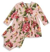 Dolce & Gabbana Baby's Two-Piece Floral Long-Sleeve Dress & Bloomers Set