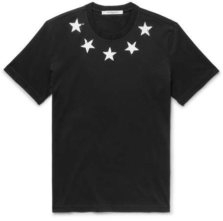 Givenchy Slim-fit Printed Cotton-jersey T-shirt - Black