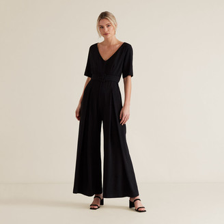Seed Heritage Wide Leg Belted Jumpsuit