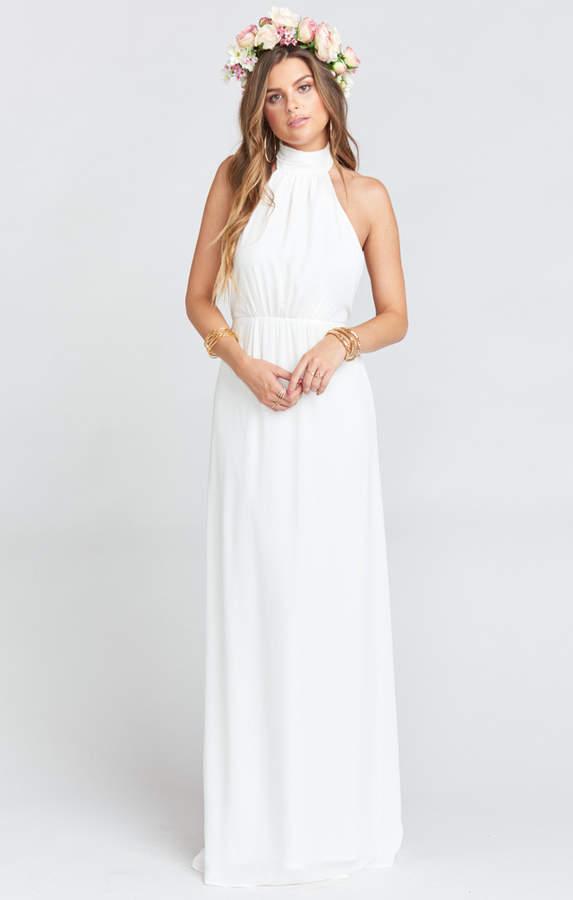 Show Me Your Mumu Collette Collar Dress ~ Ivory Crisp