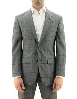 Daniel Hechter Grey & Black Pow Check Suit Jacket