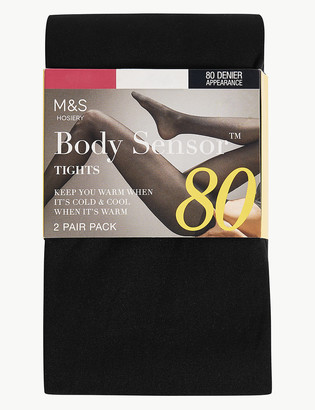 Marks and Spencer 2 Pair Pack 80 Denier Body Sensor Tights