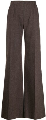 Emanuel Ungaro Pre-Owned 1970's Pinstriped Flared Trousers