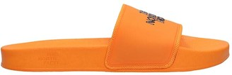 The North Face Flats In Orange Rubber/plasic