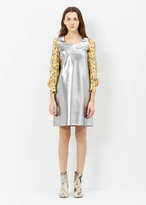 Junya Watanabe Silver Long Sleeve Shift Dress