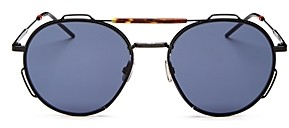 Christian Dior Men's Brow Bar Round Sunglasses, 54mm