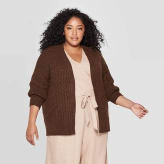 Universal Thread Women's Plus Size Long Sleeve Honeycomb Open Layering Cardigan