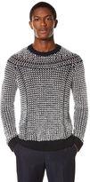 Perry Ellis Cotton/Linen Yoke Sweater