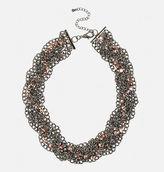 Avenue Braided Chain Bib Necklace