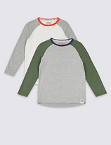 Marks and Spencer 2 Pack Pyjama Tops (7-16 Years)