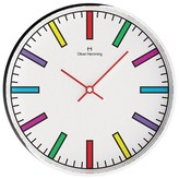 "Oliver Hemming Wall Clock with Colorful Block Line Dial (12"")"
