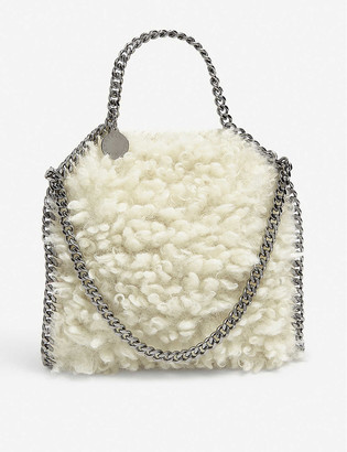 Stella McCartney Tiny Falabella faux-shearling tote bag