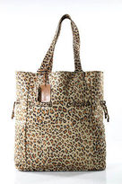 Neiman Marcus Multi-Color Animal Print Drawstring Tote Handbag Extra Large
