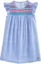 Vineyard Vines Girls Embroidered Flutter Sleeve Dress