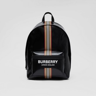 Burberry Logo and Icon Stripe Print Backpack