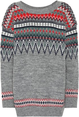 Junya Watanabe Fair Isle wool-blend sweater
