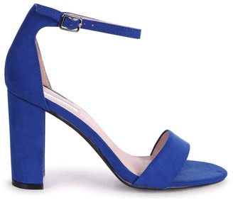 Linzi NELLY - Blue Suede Single Sole Block Heel