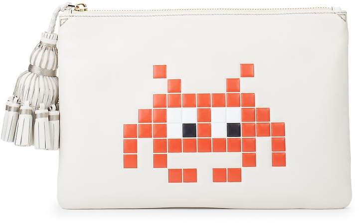Anya Hindmarch Women's Georgiana Space Invaders Leather Pouch