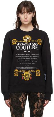 Versace Jeans Couture Black Logo Sweatshirt