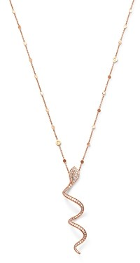 Pasquale Bruni 18K Rose Gold Look At Me White & Champagne Diamond Pendant Necklace, 35