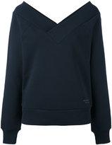Burberry open V-neck sweatshirt