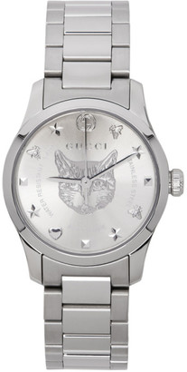 Gucci Silver G-Timeless Feline Watch