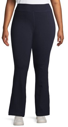 Athletic Works Women's Plus Size Flared Yoga Sweatpants