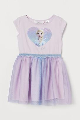 H&M Tulle-skirt Jersey Dress