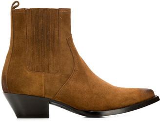 Saint Laurent Lukas Leather Boots