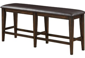 Gumm Faux Leather Bench Charlton Home