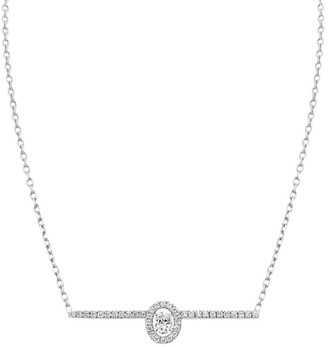 Messika Glam'Azone Diamond Pave & 18K White Gold Necklace