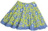Three Friends Apparel Blue Flower Skirt