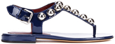 Marc by Marc Jacobs Women's Liv T Strap Leather Sandals Navy