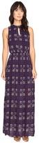 Brigitte Bailey Kaitlin Sleeveless Maxi Dress with Front Keyhole Women's Dress
